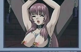 Bound hentai girl serving as a enjoyment means