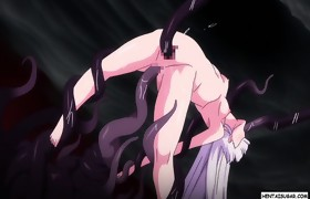 2 concupiscent hentai beauties rubbing clits