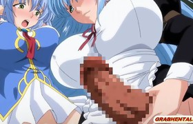 Shemale manga Elf with bigboobs fucked a busty..