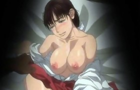Busty japanese anime threesome fucked in the..