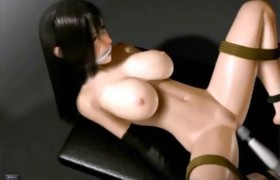 3D Big Titted Restrained Slave!
