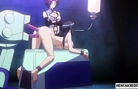Tied up anime babe gets pussy and ass toyed rough