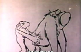 Funny Cunt Fucking Cartoon Sex (1960s Vintage)