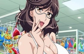 Big titted anime brunette hair screwed