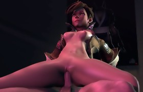Overwatch - Tracer gets a Creampie