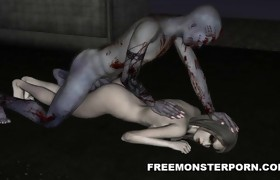 Hawt 3D Zombie Babe Licked and Screwed