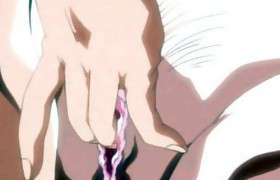 Anime lesbians licking and dildoing