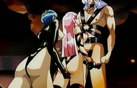 Caught hentai girl in chains sucks and receives..