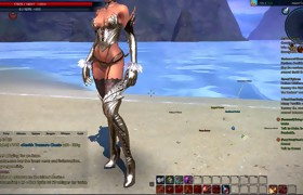 Tera: Castanic Whore Dancing on the Beach High..
